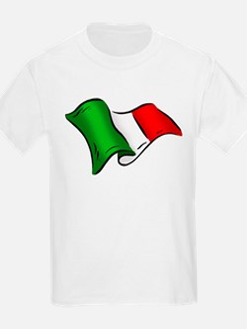 Wavy Italian flag T-Shirt