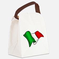 Waving Italian Flag Canvas Lunch Bag