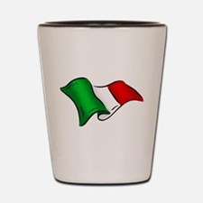 Wavy Italian Flag Shot Glass