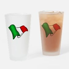 Wavy Italian Flag Drinking Glass