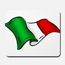Wavy Italian Flag Mousepad