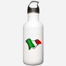 Wavy Italian Flag Water Bottle