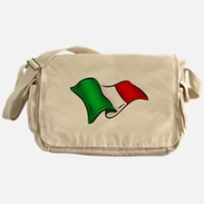Wavy Italian Flag Messenger Bag