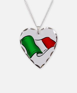 Wavy Italian Flag Necklace