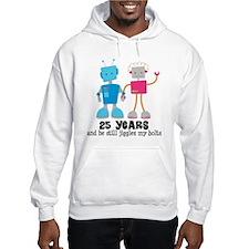 25 Year Anniversary Robot Couple Jumper Hoody