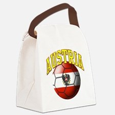 Flag of Austria Soccer Ball Canvas Lunch Bag