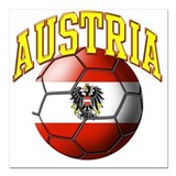 Austria flag Square Car Magnets