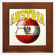 Flag of Austria Soccer Ball Framed Tile