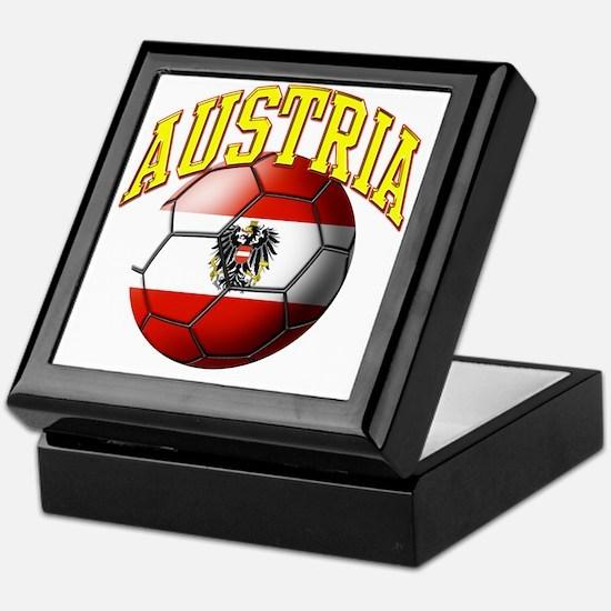 Flag of Austria Soccer Ball Keepsake Box