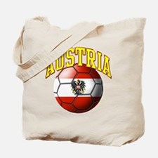 Flag of Austria Soccer Ball Tote Bag