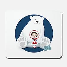 Polar Bear and Red Hooded Girl Mousepad