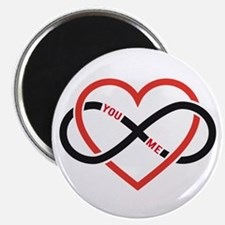 Infinity heart you and me, love forever Magnets
