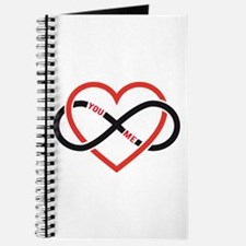 Infinity heart you and me, love forever Journal