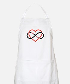 Infinity heart you and me, love forever Apron