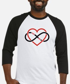 Infinity heart you and me, love forever Baseball J
