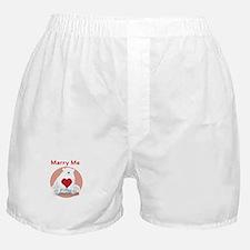 Marry Me Polar Bear Boxer Shorts
