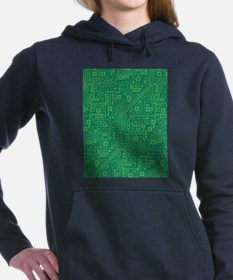Green Circuit Board Hooded Sweatshirt