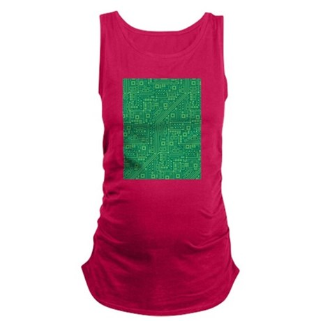 Green Circuit Board Maternity Tank Top