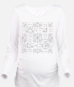 Trig and Triangles Long Sleeve Maternity T-Shirt