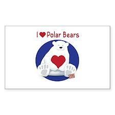 I Heart Polar Bears Decal