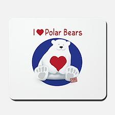 I Heart Polar Bears Mousepad