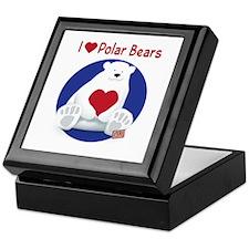 I Heart Polar Bears Keepsake Box