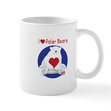 I Heart Polar Bears Mugs