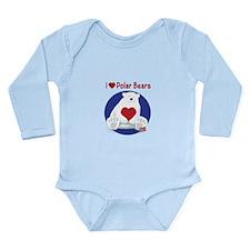 I Heart Polar Bears Body Suit