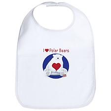 I Heart Polar Bears Bib