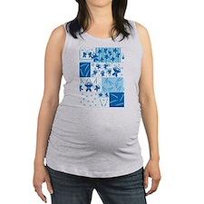 blue_ninja_fabric.png Maternity Tank Top
