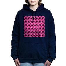 Pink Polka Dachshunds Hooded Sweatshirt