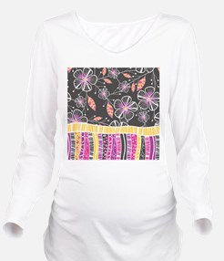 Cute Funky personalize Long Sleeve Maternity T-Shirt