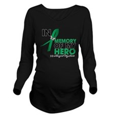 Liver Disease In Memory Long Sleeve Maternity T-Sh
