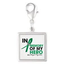 Liver Disease In Memory Silver Square Charm