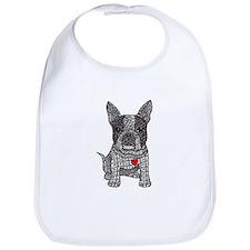 Friend - Boston Terrier Bib