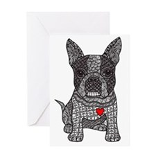 Friend - Boston Terrier Greeting Cards