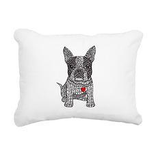 Friend - Boston Terrier Rectangular Canvas Pillow