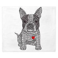 Friend - Boston Terrier King Duvet