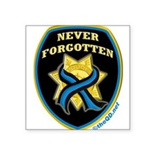 Thin Blue Line NeverForgotten Rectangle Sticker