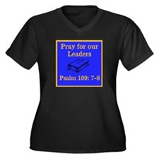 PSALM 109:7-8 Women's Plus Size V-Neck Dark T-Shir