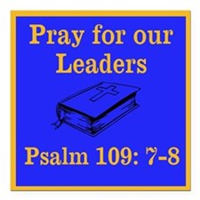 "PSALM 109:7-8 Square Car Magnet 3"" x 3"""