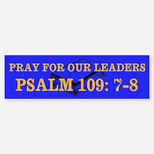 PSALM 109:7-8 Bumper Bumper Sticker