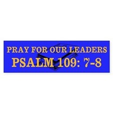 PSALM 109:7-8 Bumper Sticker