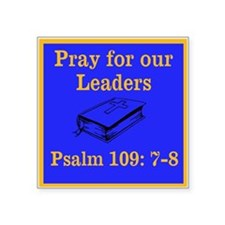"PSALM 109:7-8 Square Sticker 3"" x 3"""