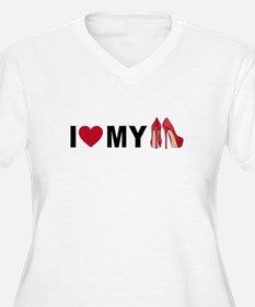 I love my red shoes Plus Size T-Shirt