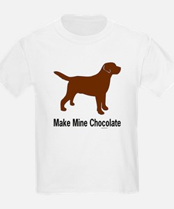 Make Mine Chocolate Lab T-Shirt