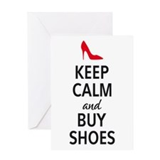 Keep calm and buy shoes Greeting Cards