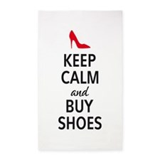Keep calm and buy shoes 3'x5' Area Rug