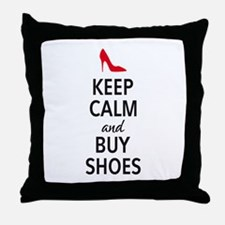 Keep calm and buy shoes Throw Pillow