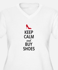Keep calm and buy shoes Plus Size T-Shirt